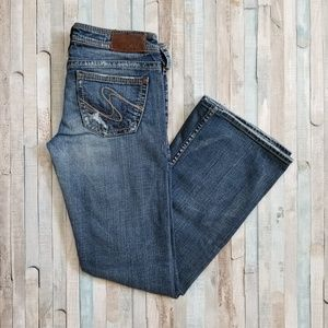 Silver Tuesday Distressed Bootcut Jeans